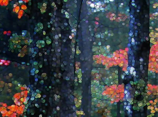 Landscape Art Print featuring the digital art Deep Woods Mystery by Dave Martsolf