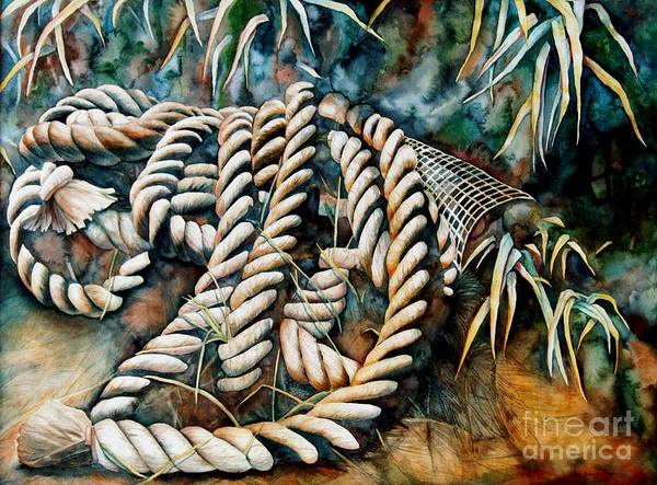 Rope Art Print featuring the painting Delta Days by Gail Zavala