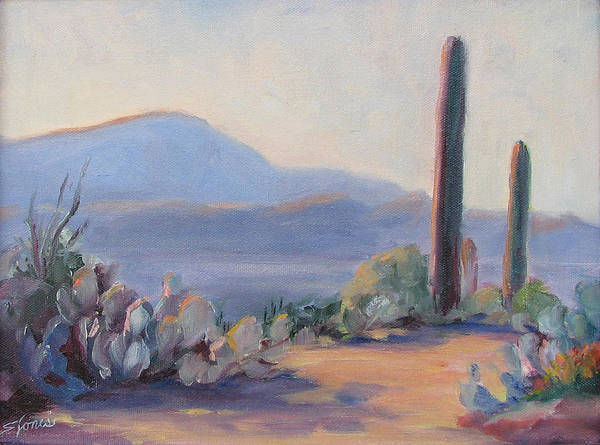Desert Art Print featuring the painting Desert Afternoon by Shari Jones