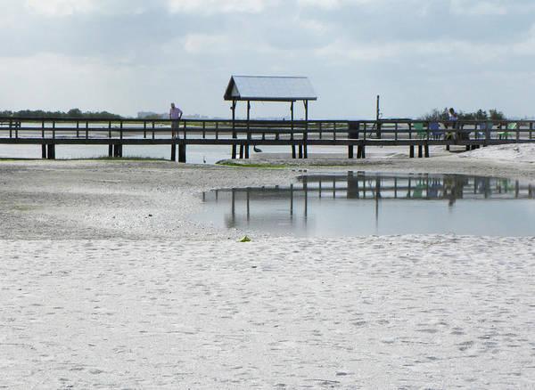 Beach Art Print featuring the photograph Dock On The Lagoon by Rosalie Scanlon