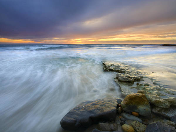 Rocks Art Print featuring the photograph Driven Before The Storm by Mike Dawson