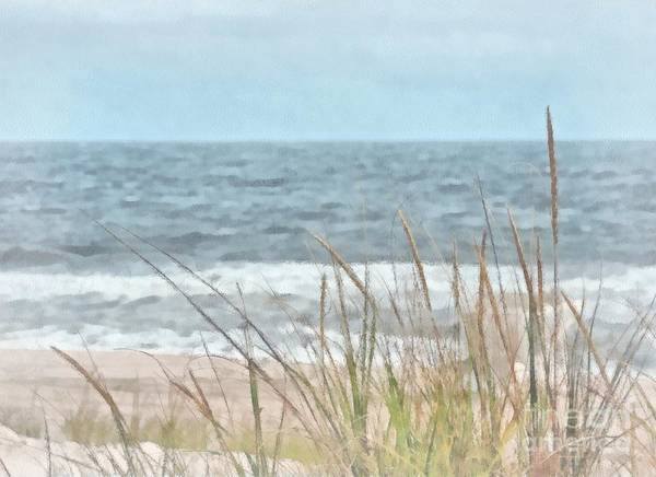 Island Beach State Park Art Print featuring the painting Dune Grass by Helene Guertin