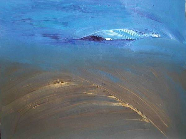 Abstracts Art Print featuring the painting Earth And Sky I by Lena Shugar