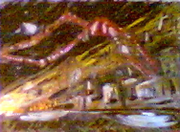 Rust Belt Art Print featuring the digital art East Ave Three Am Christman by John Toxey