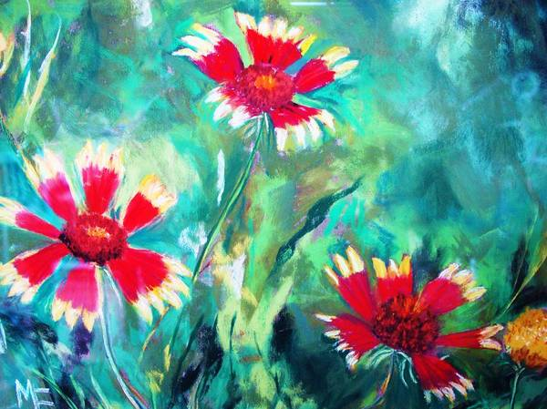 Flowers Art Print featuring the painting East Texas Wild Flowers by Melinda Etzold