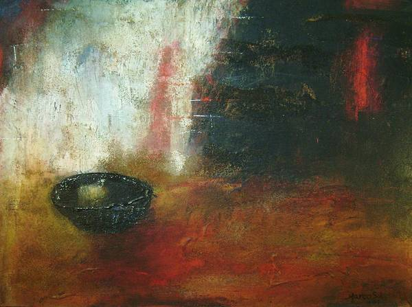 Contemporary Painting Art Print featuring the painting El Pan De Cada Dia by Marco Solis