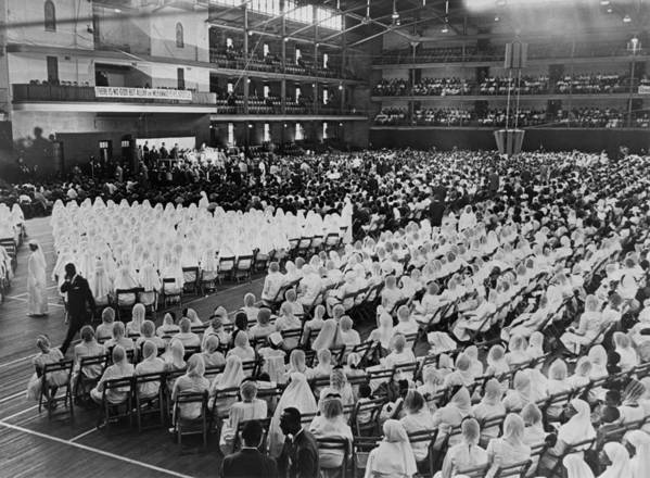 History Art Print featuring the photograph Elijah Muhammad Addressing An Assembly by Everett