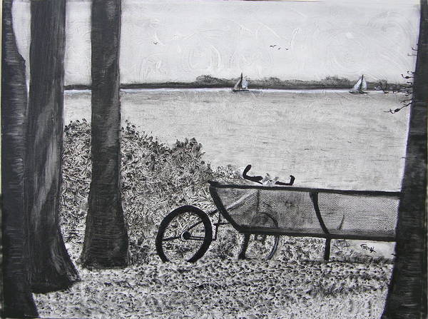Bicycle Art Print featuring the painting Enjoy The View by Fernando Armel