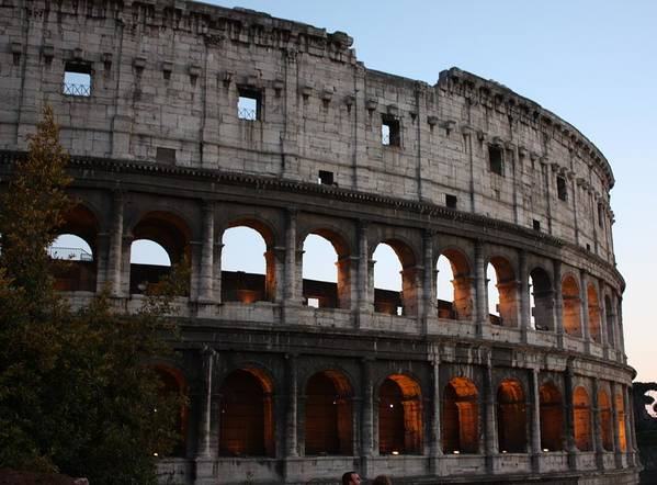 Rome Art Print featuring the photograph Evening Light In Rome by Pat Purdy