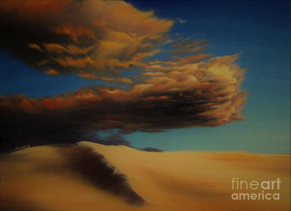 Coral Sands Art Print featuring the painting Evensong by Nancy Dunham