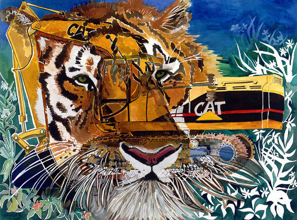 Tiger Art Print featuring the painting Eye Of The Beholder by Karen Merry