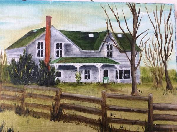 Landscape Art Print featuring the painting Family Wanted by Gail Grundberg Judd