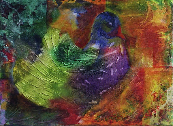 Animal Art Print featuring the painting Fantasy Bird by Silvia Philippsohn