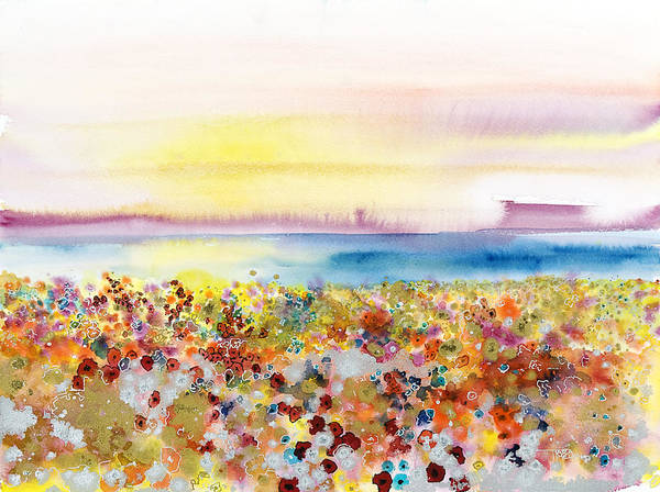 Abstract Art Print featuring the painting Field Of Joy by Tara Thelen - Printscapes