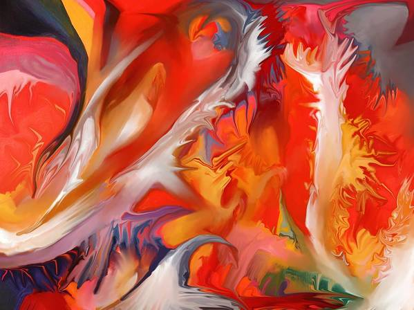 Fire Art Print featuring the painting Fire Storm by Peter Shor