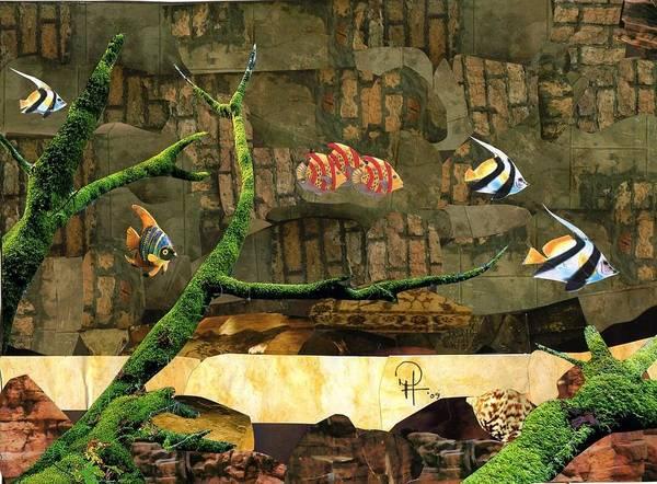 Fish Art Print featuring the mixed media Fish Of The Brick by Doug Hiser