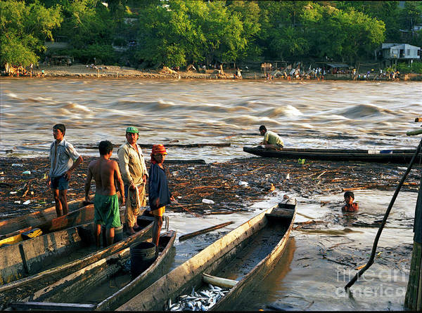 Water Art Print featuring the photograph Fishing The River Magdalena by Lawrence Costales