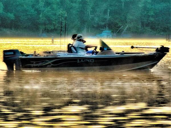 Boat On The Lake Art Print featuring the photograph Fishing Trip by Jerry O'Rourke