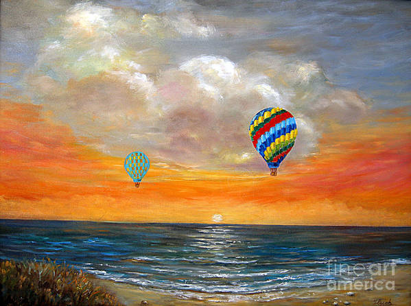 Landscape Art Print featuring the painting Fly Away 22 by Jeannette Ulrich
