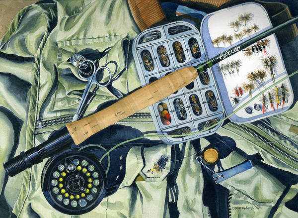 Fish Art Print featuring the painting Flyvest by Mark Jennings