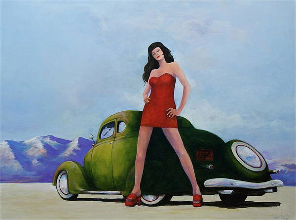Pinup Art Print featuring the painting Ford And Chick by Peter Wedel