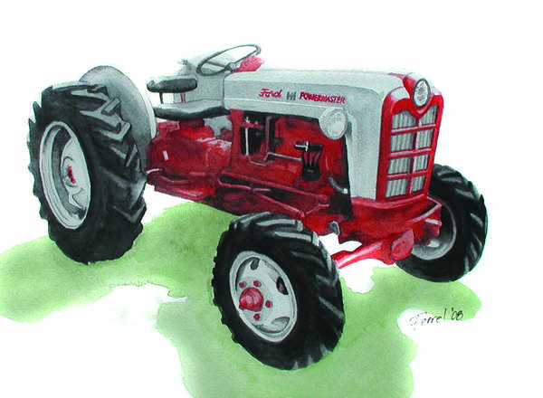 Ford Tractor Art Print featuring the painting Ford Tractor by Ferrel Cordle