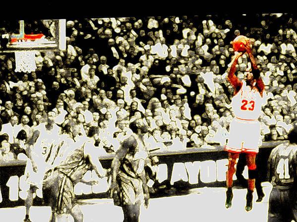 Michael Jordan Print featuring the digital art Form by Brandon Ramquist