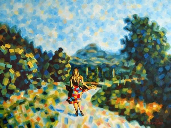 Woman Art Print featuring the painting Free Woman by Vladislav Tchevtchenko