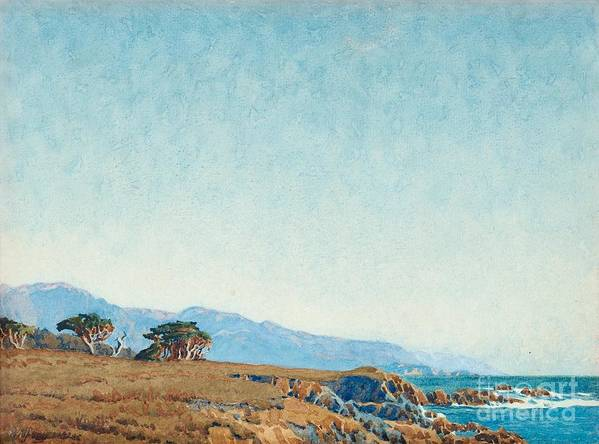 Gunnar Widforss Art Print featuring the painting From The Mile Drive by MotionAge Designs