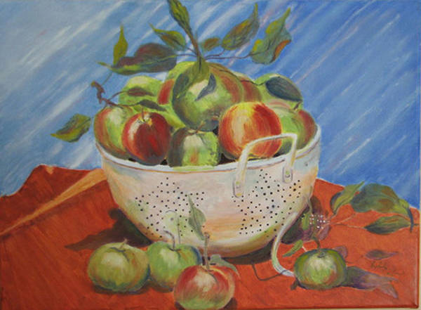Apples Art Print featuring the painting Future Pie by Libby Cagle