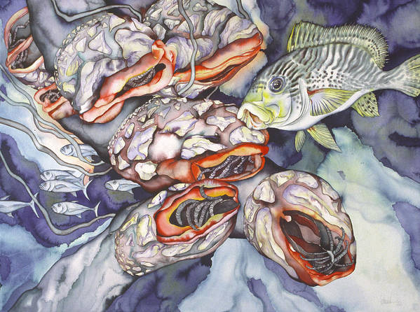 Sealife Art Print featuring the painting Garden Of Eden by Liduine Bekman