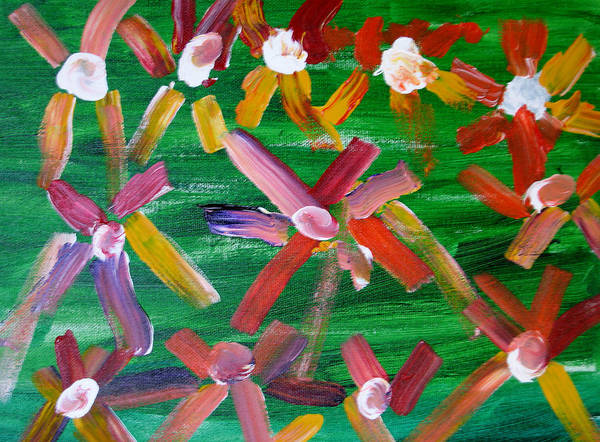 Flowers Art Print featuring the painting Gary's Flowers by Gary Giagrande
