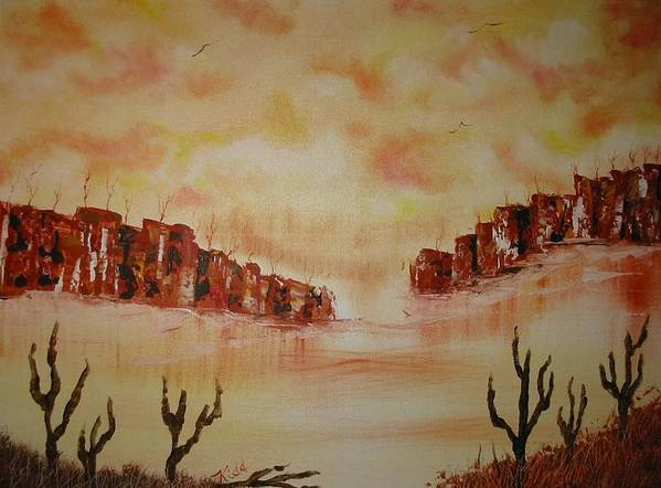 Acrylics Art Print featuring the painting Gateway To Eternity by Laurie Kidd