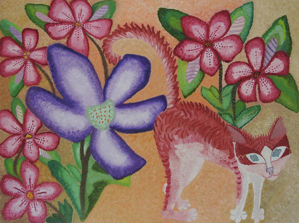 Wild Flowers Art Print featuring the painting Gentleness, On My Mind, Forever On My Mind by Adora Miller