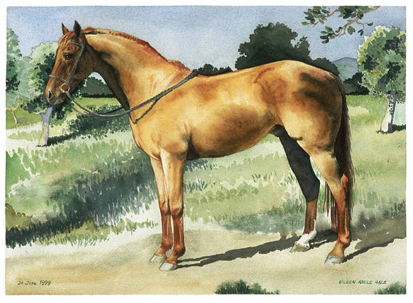 Portrait Art Print featuring the painting George by Eileen Hale