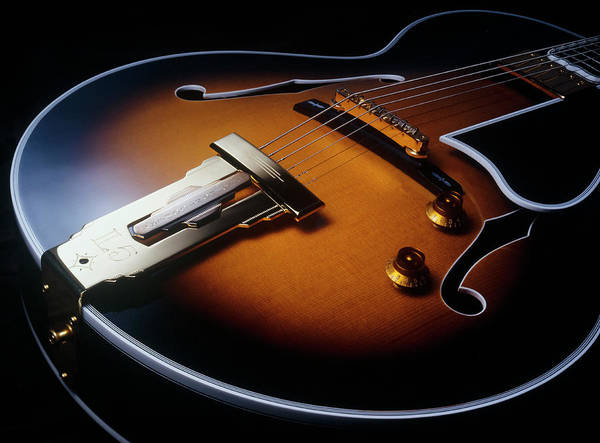 Gibson Wes Montgomery L 5 Electric Guitar Closeup Art Print By Jerry