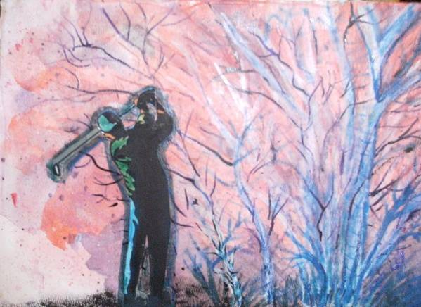 Golf Art Print featuring the mixed media Golfer In The Pink For Par II by Anne-Elizabeth Whiteway