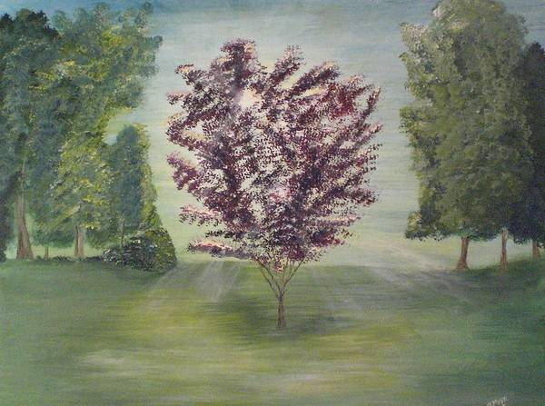 Tree Art Print featuring the painting Good Morning by Jessica Mason