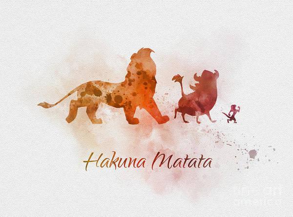 Hakuna Matata Art Print By Rebecca Jenkins