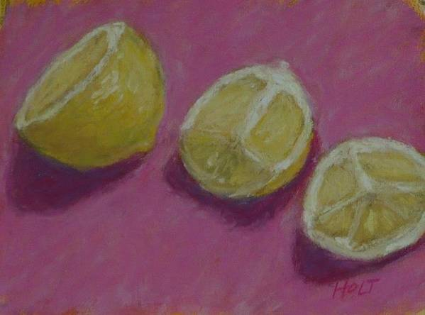 Still Life Art Print featuring the painting Half And Quartered by Dolores Holt