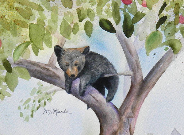 Bear Art Print featuring the painting Hanging Out by Marsha Karle