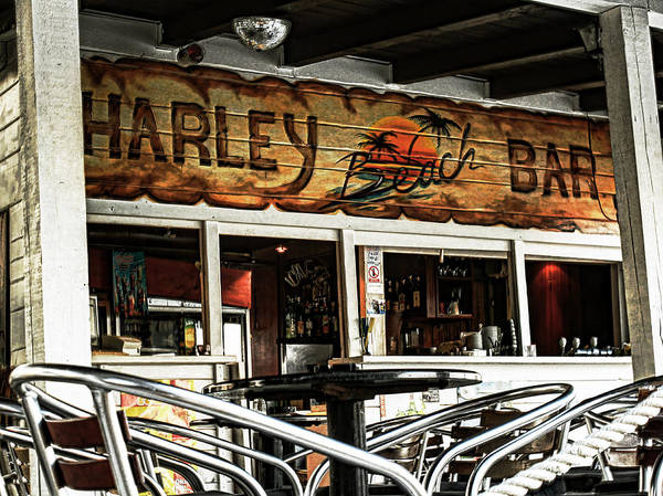 Bar Art Print featuring the photograph Harley Beach Bar by Jasna Buncic