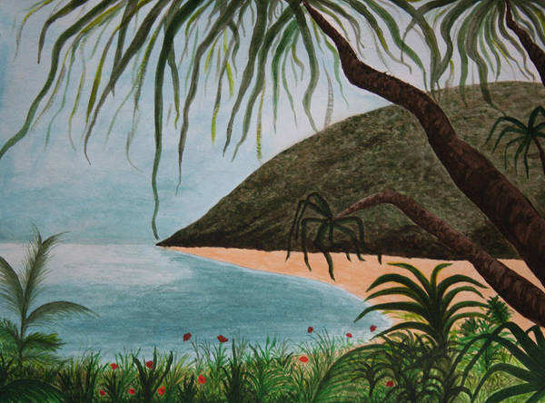 Landscape Art Print featuring the painting Hawaii Series by Amy Parker