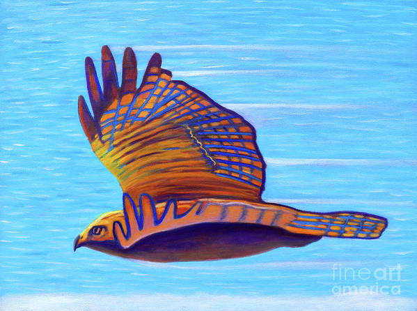 Hawk Art Print featuring the painting Hawk Speed by Brian Commerford