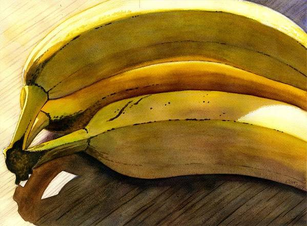 Bananas Art Print featuring the painting Heart Smart by Catherine G McElroy