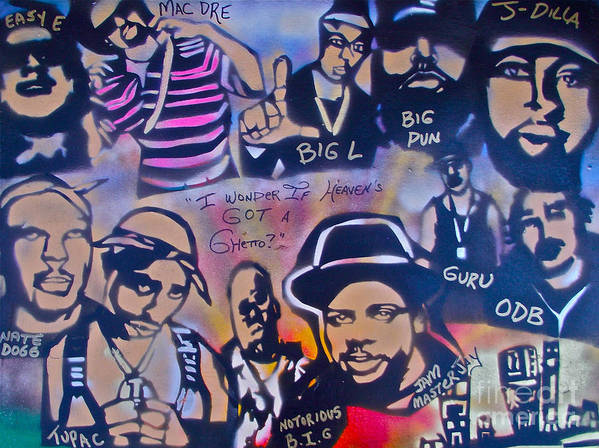 Hip Hop Print featuring the painting Heavens Ghetto by Tony B Conscious