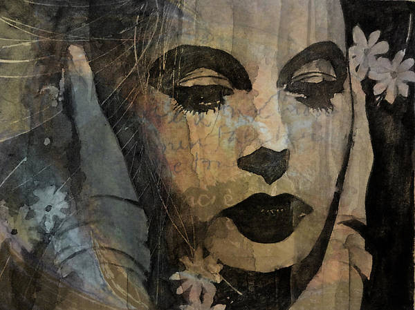 Hedy Lamar Art Print featuring the mixed media Hedy Lamarr - Only A Woman's Heart by Paul Lovering