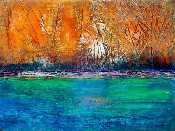 Landscape Art Print featuring the painting Hiawassee by J Price Garner