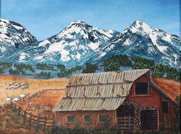 Landscape Art Print featuring the painting High Home by Julia Ellis