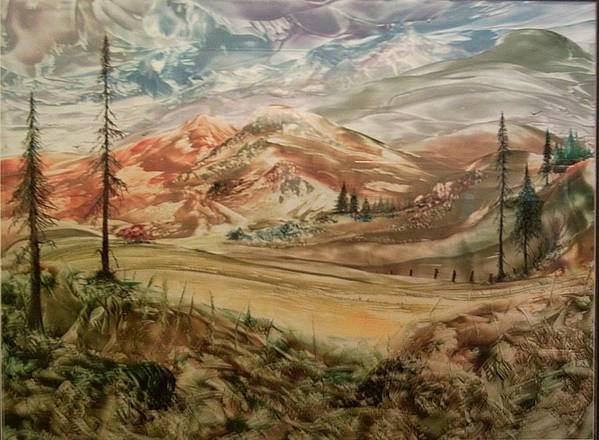 Landscape Art Print featuring the painting High Meadowland by John Vandebrooke